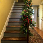 Christmas Garland Staircase