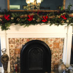Christmas Garland Mantel Fireplace